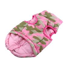 Greensen 4Colors Pet Jacket Camouflage Bowknot Winter Fall ...