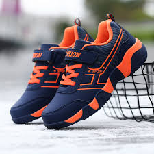 HOBIBEAR Teenage <b>Boys</b> Shoes Orange Black Children <b>Running</b> ...