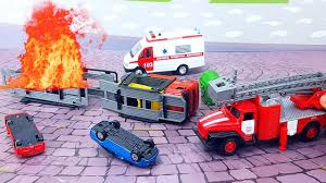 Машинки Пожарная Скорая Помощь Мусоровоз ...