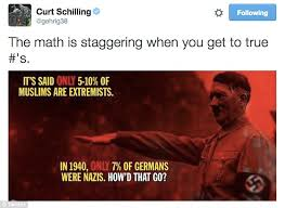 ESPN's Curt Schilling SUSPENDED after comparing Muslims to Nazis ... via Relatably.com