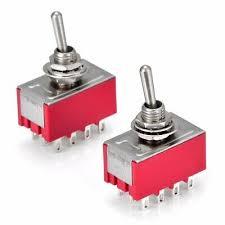 <b>2pcs</b> MTS-402 AC 250V 2A 125V 5A 12 Pin 2 Position <b>4PDT</b> ON/ON ...