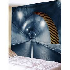 [41% OFF] 2020 <b>Tunnel Entrance Printed Wall</b> Art Tapestry In GRAY ...