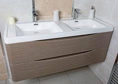 rhodes pursuit mm bathroom vanity unit: motiv  wall mounted double basin vanity unit
