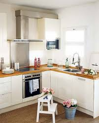 functional mini kitchens small space kitchen unit: mini l shaped white kitchen designs for small spaces solid brown wooden kitchen countertop white