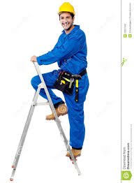 construction worker climbing up the step ladder royalty stock construction worker climbing up the step ladder