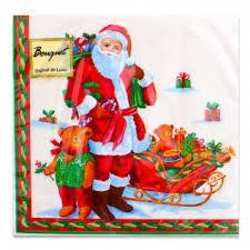 <b>Салфетки бумажные Bouquet</b> 2 сл. 20л 33x33см Дед мороз с ...