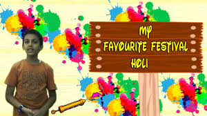 speaking on favourite festival holi