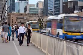thinking of becoming a bus driver warning warning driver brisbane aus sep 24 2014 traffic on victoria bridge in brisbane the