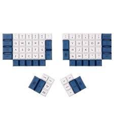 DSA ERGO Dye-Sub <b>keycap White</b> and Blue color 95 keys within ...
