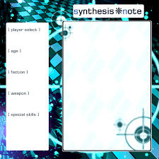 synthesis note character application template by kuratine on synthesis note character application template by kuratine