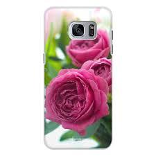 """Чехол для Samsung Galaxy S7, объёмная печать """"<b>Розовые розы</b> ..."""