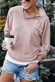 Casual <b>Buttoned Turtleneck Sweatshirt</b> in 2020 | Turtleneck ...