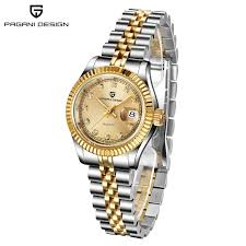PAGANI DESIGN 1657 Womens Watches Gold <b>Simple</b> Fashion ...