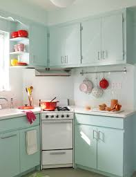 small space kitchen ideas: a small space with a fifties flair