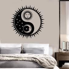 sun wall decal trendy designs: vinyl wall decal sun moon stars bedroom home interior stickers ig