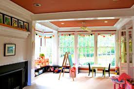 living roomswith orange green
