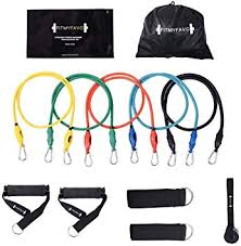 PIN JIAN Resistance Bands Set with Exercise Tube ... - Amazon.com