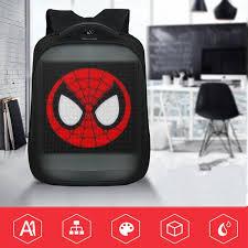 DishyKooker Wifi Smart LED Screen <b>Backpack</b> for Walking Outdoor ...