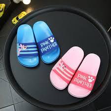 Cute Cartoon pink leopard <b>kids slippers summer</b> beach Non slip ...