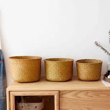 <b>Hand knitted</b> Toy Storage Basket Fruit Basket <b>Nordic Style</b> Plant Pot ...