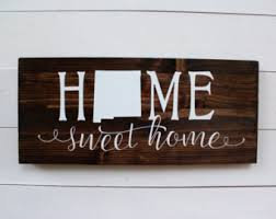 new mexico home decor: home sweet home new mexico housewarming rustic home decor entryway sign albuquerque wall sign wall decor gift under