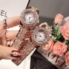 <b>Luxury Fashion Rose</b> Gold With Diamonds Woman <b>Watch</b> Steel ...