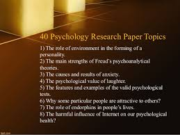 Bandura psychology is a good research paper topic for psychology