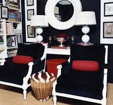 images hollywood regency pinterest furniture: mary macdonald navy blue amp red hollywood regency office library design with bold
