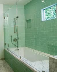 tile bathroom aqua glass inspiration southern