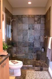 bathroom ideas corner shower design: gray stone shower interior for small bathroom decor with corner shower bench bathroom miraculous tiny bathrooms with shower design small bathrooms with