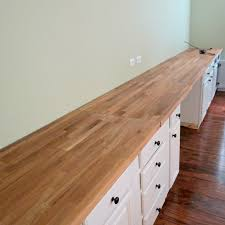 ikea butcherblock countertop for built in wall to wall desk home is basement office setup 3 primary