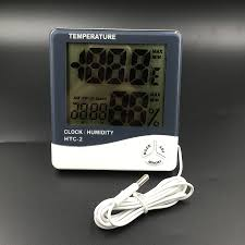 HTC 2 High accuracy LCD <b>Digital Thermometer Hygrometer</b> ...