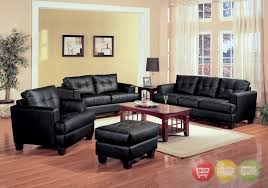 black bonded leather living room sofa and loveseat setliving room black leather living black leather living room
