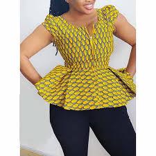 <b>Vintage Ethnic</b> Elegant Purple African Fashion <b>Women</b> Blouses ...