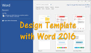 how to design template word 2016 wikigain