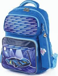 <b>Рюкзак</b> для мальчика <b>Юнландия</b> Машина, с <b>пеналом</b>, голубой, 18 л