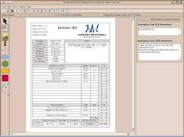 residential wire pro contractor building block designer building block sample estimate sheet