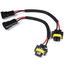 Zorbes <b>2pcs H8 H9 H11</b> Extension Adapter Wiring Harness Socket ...