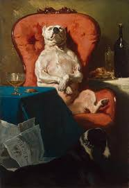 <b>Pug Dog</b> in an Armchair