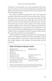 origins faith alive christian resources order of creation in genesis 1 genesis 2 and modern science