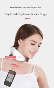 Magnetic Pulse <b>Neck Massager</b> Pain Relief Care Relaxing Health ...