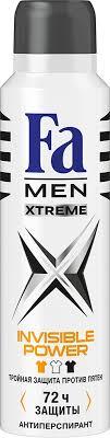 <b>FA MEN Xtreme Дезодорант</b>-аэрозоль Invisible, 150 мл — купить ...