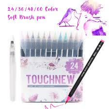 Touchnew Soft Brush Pen <b>24</b>/36/48/60 <b>Color Premium Painting</b> ...