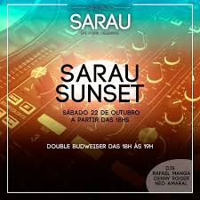 flyers and ads for sarau bar and restaurant on behance facebook cover for sarau bar and restaurant sarau sunset event