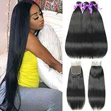 FASHION QUEEN Hair Straight Weave 8A Brazilian ... - Amazon.com