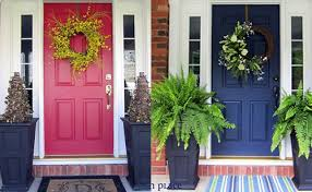 Plain White Front Door Blue House Sutton Place Red And Throughout Design Ideas