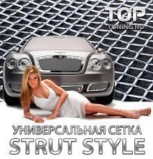 Стальная тюнинг <b>сетка</b> Strut Style Хром - 120x30