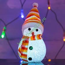 Купить <b>Фигура светодиодная</b> Снеговик 7LED RGB 17см Питание ...