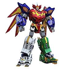 <b>5</b> in1 Assembly Dinozords <b>Transformation Robot</b> Action Figures ...