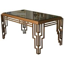 art deco style stepped geometric dining table desk art deco dining set